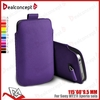 Hot leather purple case for Sony XPERIA Neo/MT15i/MT11I