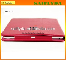 New PU leather case for ipad air smart cover case for ipad 5 for sale