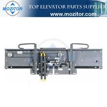 Two Panel Center Opening Full Glass Car Door|elevator door mechanism