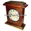 hecho en la india de madera reloj de pared de decoración para el hogar productos de artesanía