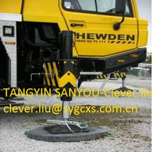 High Quality Crane outrigger UHMW PE to protect soft ground