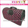 2013 pink heart pattern dog carrier ,best sale pet carrier