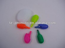 5 color flower highlighter pen