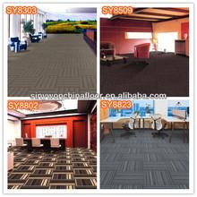50x50cm PP Solution Dyed Carpet Tile Bitumen Back