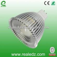 CHEAPER FACTORY PRICE Epistar COB led spot light mr16 12v petal shape GU5.3 WITH 38degree REFLECTOR LENS