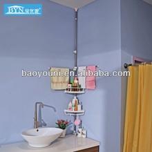 BAOYOUNI adjustable plastic telescopic bathroom shelves 0931