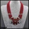 Birmânia rubi Coral vermelho grânulos de Design de jóias triplo Made In China Alibaba