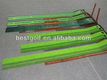 A205 golf putting mat with annatto pedestal for putter training,Auto return golf tracking putting mat ,office golf putting mat