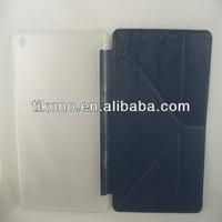 Fashion wooden fold case for ipad mini2 cover