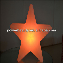 best cheap PE plastic large christmas star with remote/rgb