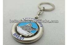 3D promotional metal key chain