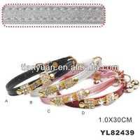 PU fashing cat collars with diamond (YL82439)