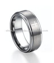 Men Cross10mm Tungsten Ring