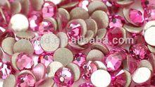 High Quality Flat Back Rose Color, Cheap Hot Fix rhinestone