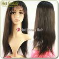 Full cutícula 100% peruca do cabelo humano virgem remy brasileira cabelo humano completo laço