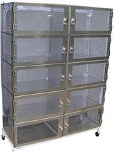 Cleatech Desiccator, Ten Door, Static-Dissipative PVC Transparent