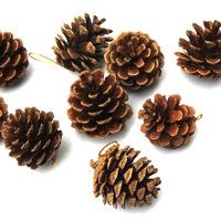 4cm Pine Cone Christmas Tree Ornament Hanging Decorations