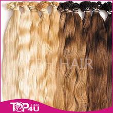 Wholesale full cuticle 5a natural malaysian hair flat tip