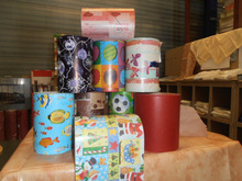 Stock lot 19 cm wide gift wrapping paper in different dessins