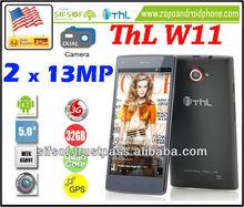 ThL W11 Monkey King 32GB 2x 13MP Cameras Android 4.2 5 inch Smartphone 1.5GHz Quad Core CPU, 2GB RAM (Black)