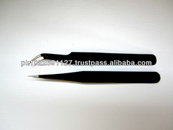 High Quality Coated Straight/Curled Eyelash Extension Tweezer/Curved Tweezers/Hot Pink Tweezers