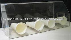 Cleatech Glovebox, Four port, Non-Dissipative PVC Transparent