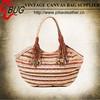 HOT SELL BUG New Stylish Fashion cute strip canvas Women Handbag popular shopping bag