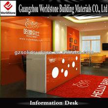 bright courlor reception counter