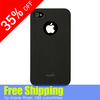 Matte hard case durable plastic case pure solid color with a hole back for iphone 5 s case