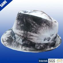 100% cotton printed fashion mens fedora hat wholesale