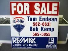 Screen Printing Corflute Sign, Real Estate,Yard Sign