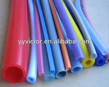 extruded round square solid rubber silicone parts