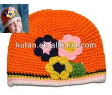 baby hat crochet pattern/ newsboy crochet baby hats/ crochet baby flower hat acrylic beanie