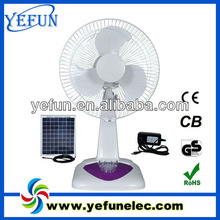 """YF-16F ABS plastic cheap price 16"""" rechargeable solar camping fans 12v dc oem"""