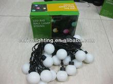 220V 23mm 5W 5M led round ball christmas lights/led cluster christmas lights