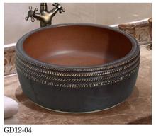 Bathroom Round Square Ceramic Sink
