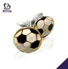 Shiny polish chic costume jewelry cute brass cufflink for liverpool fc