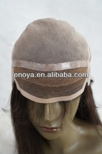 comfortable glueless human hair silicone base chemical wig