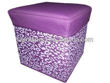 fashion colorful high quality storage stool box