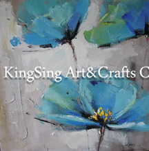 100% Hand Painted Abstract Flower Stretched Painting