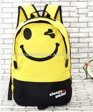 Canvas Smiling Face Backpack Bag Knapsack Rucksack School Bag For High College School University Teenage Students