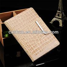 Factory Direct Sale Crocodile grain leather flip case for ipad air