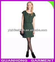 fashion women delicate chiffon innovative polka dots dress 2013
