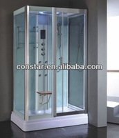 Pure Shower Room with Wooden Seat(9009 PURE)