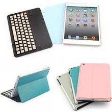 pu leather wireless bluetooth keyboard for ipad mini