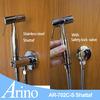 Arino chrome stainless steel hand held bidet spray with safety stop valve