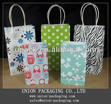 2013 Best seller colorful birthday paper gift bag