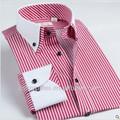 ล่าสุดการออกแบบเสื้อผู้ชายผ้าฝ้าย100%คู่เสื้อคอปกแขนยาวแต่งกายสำนักงาน