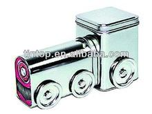dongguan factory train tin case with wheel /metal beauty wholesale tin train box / promotional gifts tin