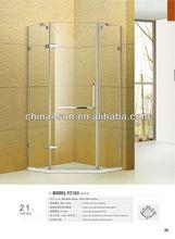 diamante cerniera porte senza cornice cabine doccia in fibra di vetro